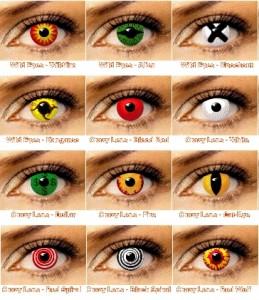 Линзы цветные не для зрения