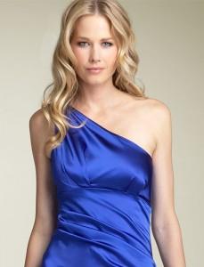 Макияж для глаз под синее платье