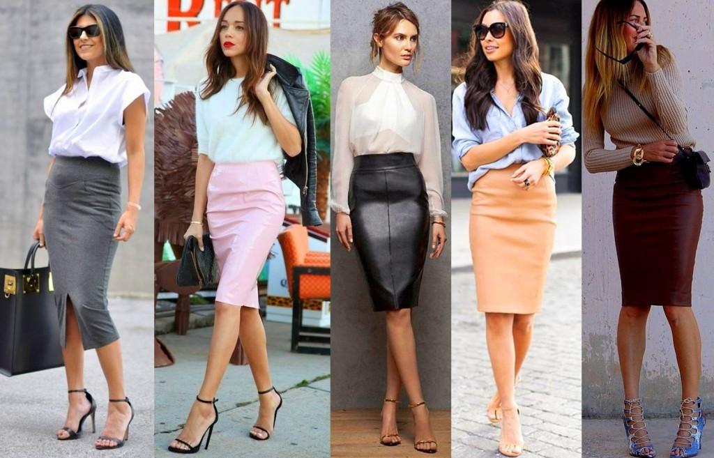 Как носить юбку-карандаш
