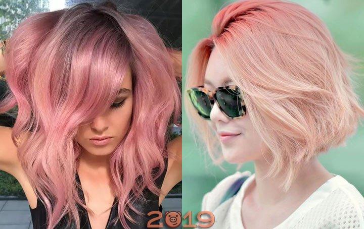 модные оттенки цвета волос в 2019 году